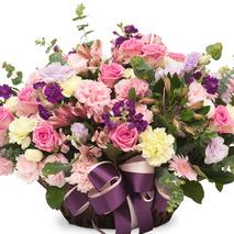 카네이션꽃바구니-파스텔혼합바구니