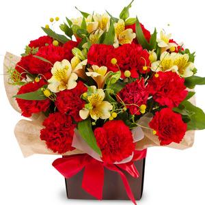 카네이션꽃바구니-레드톤감사바구니