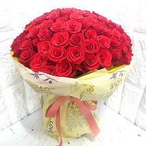 수줍어서 장미꽃100송이꽃다발