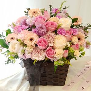 핑크장미 리시안샤스