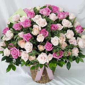 제이 핑크꽃바구니